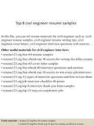 How To Prepare A Resume For An Interview Interesting Top 48 Civil Engineer Resume Samples