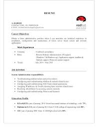 Red Hat Certified Engineer Resume Format 40 Free Linux Sample Resume Stunning Linux Fresher Resume Format