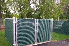 chain link fence double gate. 6 Foot Chain Link Fence Tall Galvanized Double Gates With  Green Privacy Gate