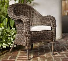 Torrey All Weather Wicker Roll Arm Dining Chair Espresso