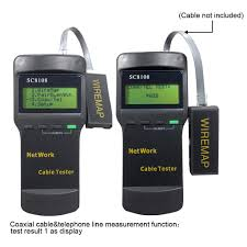 sc8108 cat5 rj45 network lan cable tester wire tracker 4 far end far end recognizer prompting voice self checking function and automatically compensate any change in battery capacity or ambient temperature