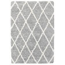 carpet art deco loft 7x10 gray trellis gray indoor area rug common 5