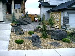 Front Yard Landscape With Rocks The Most Landscaping Rock Ideas