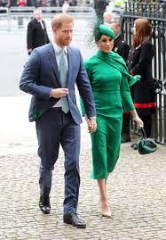 Meghan Markle Wears Green Dress & Cape to Commonwealth Day Service