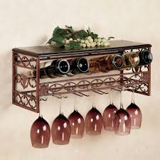 wall mounted metal wine rack. Furniture Amazing Wine Rack With Glass Holder Decor Ideas Home Wall Mounted Metal L