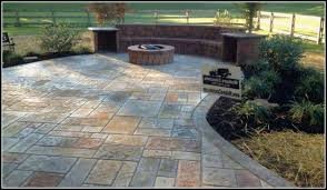 stamped concrete patio with fire pit cost. Stamped Concrete With Fire Pit Patio Designs Patios Home Cost A