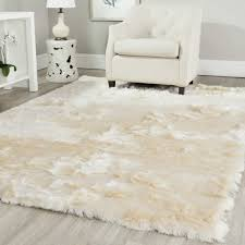 white area rug with black border in terrific minimalist living