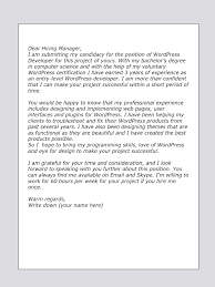 help making a cover letter upwork cover letter sample for wordpress developer upwork help