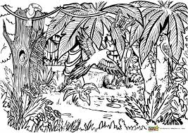Free printable jungle coloring pages and download free jungle coloring pages along with coloring pages for other activities and coloring sheets. Jungle Coloring For Adults And Kids Kiddycharts Coloring