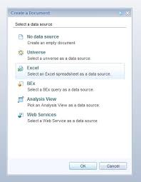 Excel As Source To A Webi Sap Blogs