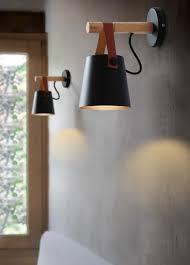 wooden lantern nordic hanging wall