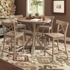 pretty rustic round dining table and chairs 22 room glass sets tables set ottawa furniture toronto inch copy tures free circle dark brown chunky