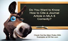 how to cite a journal article in mla 8