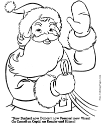 Small Picture Santa coloring sheets
