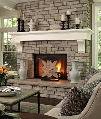 ... Charming Image Of Home Interior Design And Decoration With Various Stone  Fireplace : Captivating Picture Of ...