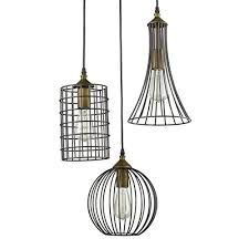 lighting antique 3 lights island oil rubbed bronze chandelier wire within cage pendant light design 11