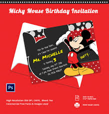 20 mickey mouse invitation templates sample example customisable micky mouse birthday invitation template