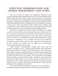 a hypothetical case study on imporatnce of effective communication  effective communication change management case study by monika sinha 2