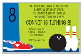 8th Birthday Party Invitations Bowling Step Invitations Myexpression 19891