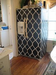 contact paper wall art inspirational ugly old fridge cover it a way to remodel using