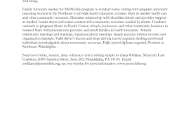 Child Care Cover Letter For Resume Entry Level Early Childhood
