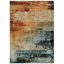 oriental weavers of america cascade sedona rectangular multicolor area rug view larger