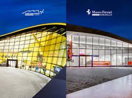 A restored building, which once was the mechanical workshop of enzo ferrari's father, alfredo, and a new futuristic wing, shaped like a giant yellow automobile car hood, designed by british architectural firm future systems in collaboration with italy's shiro studio. Ferrari Museums Ferrari Com
