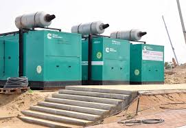 power generators. Synchronised ACE Power Generators With Cummins Engines Installed On A Project Site. R