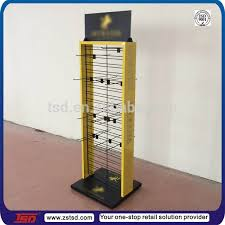 Rotating Hook Display Stand Fascinating TSDM32 Custom Retail Shop Floor Standing Product Hook Metal