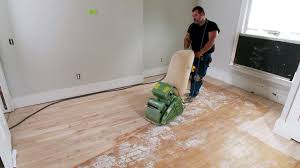 Refinish Stained Wood How To Sand A Hardwood Floor How Tos Diy
