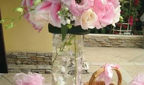 our feather ball and tower vase centerpiece decoration ideas