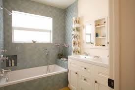 bathroom tile los angeles. Pretty Fake Wood Flooring Trend Los Angeles Contemporary Bathroom Decorators With Blue Tile White E
