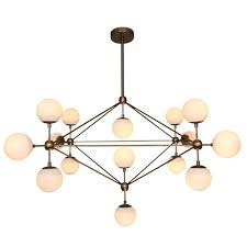 modernist brass globe 15 lamp