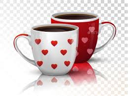 two coffee cups with coffee. Wonderful Coffee Two Cups Coffee On Transparent  Valentines SeasonsHolidays Throughout With
