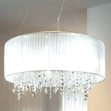 crystal lamp shade chandelier fabric shades big clip on with lighting s long island fab