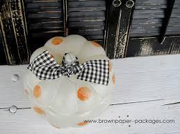 polka dot glass pumpkin featuring martha stewart glass paint