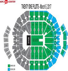 Yum Concert Seating Chart Twenty One Pilots Yum Center Seating Chart