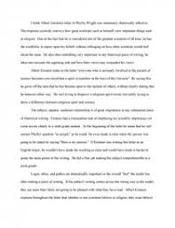 rhetorical analysis albert einstein s letter to phyllis wright essay zoom zoom