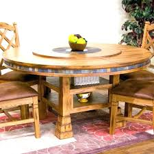 round table with lazy susan built in kitchen table lazy round dining room table with built