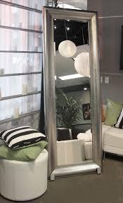 silver floor mirror. Modren Silver Silver Frame Floor Mirror Intended M
