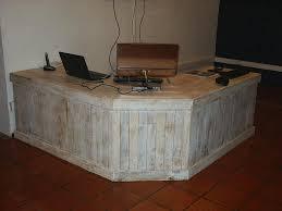 rustic pallet working desk