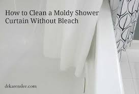 how to clean moldy shower curtain