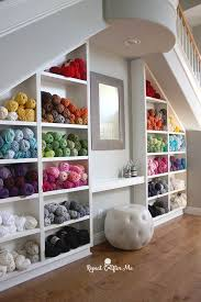 Don't you love this dreamy yarn storage idea by Repeat Crafter ...