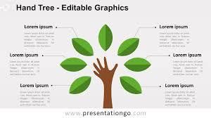 tree in powerpoint hand tree powerpoint diagram presentationgo com