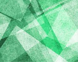 Abstract Green Background With White Parchment Paper Geometric
