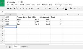 daily inventory sheets how to manage inventory in google sheets with google forms