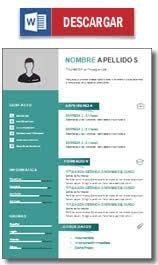 Plantillas para currículum en word 4. Plantilla Curriculum Vitae Gratis Modelos De Cv Hacer Un Curriculum Ejemplos