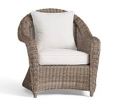 Torrey AllWeather Wicker Roll Arm Chair  Pottery Barn Rattan Chair99