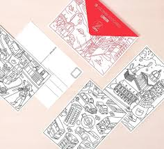 coloring postcards. Brilliant Postcards OMY City Postcards On DLK Throughout Coloring I