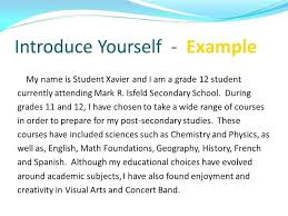 Interview Introduction How To Write Essay About Myself Literature Review Example Fashion